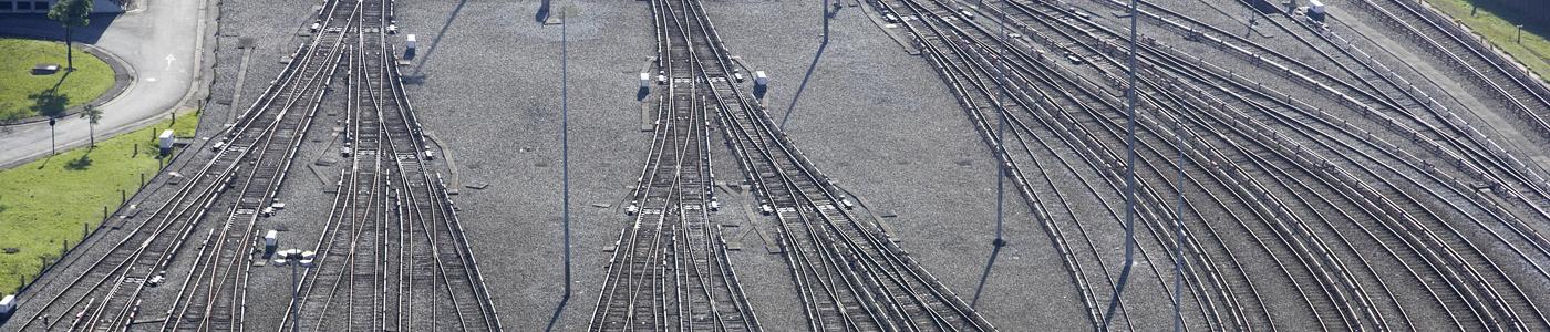 Gleise von oben