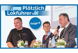 André Kleinbölting steigt mit Claus Weselsky aufs Innotrans-Podium