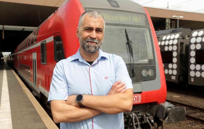 Vincenzo Traviglia wird als Quereinsteiger Lokführer - dpa (David Young)