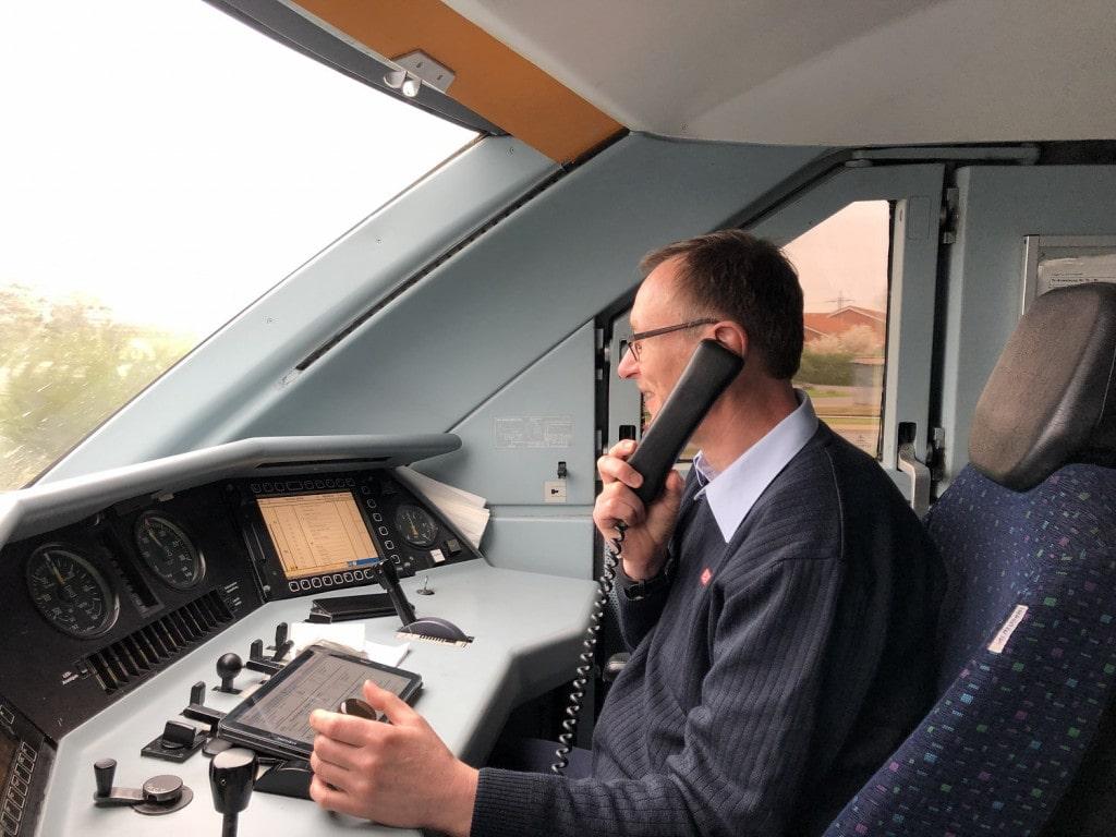 Christian Sternberg an seinem Arbeitsplatz – Quelle: Deutsche Bahn AG