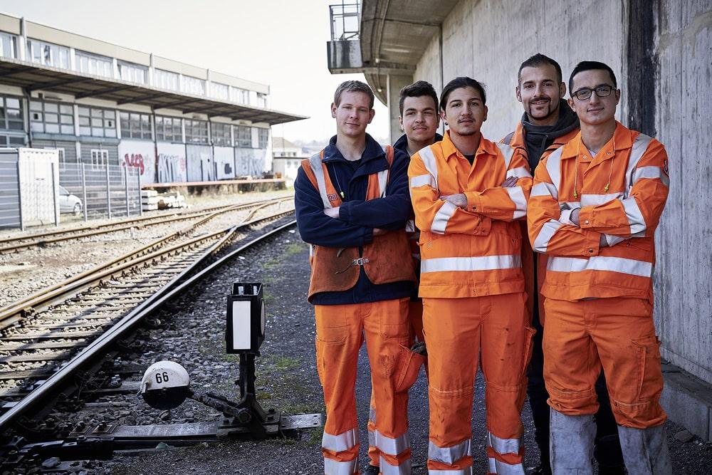 Gruppe Gleisbauer Deutsche Bahn